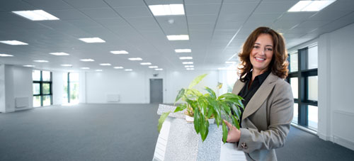 Lady moving into office